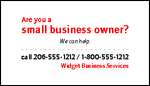 Custom business card template QPDXQMZHKDTR